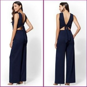 NWT Who what wear tie-back jumpsuit/xs